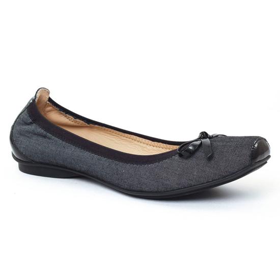 Ballerines Jb Martin Yeti Noir, vue principale de la chaussure femme