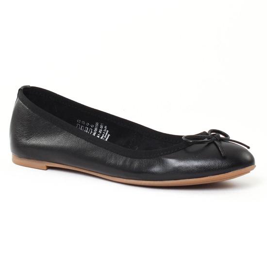 Ballerines Marco Tozzi 22151 Black, vue principale de la chaussure femme