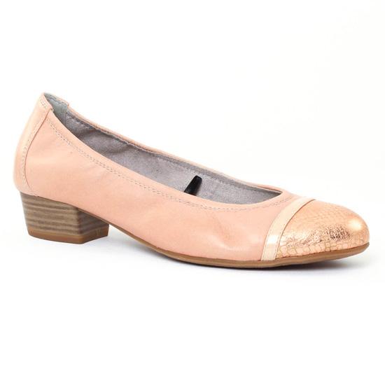 Ballerines Tamaris 22200 rose, vue principale de la chaussure femme