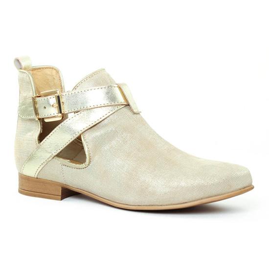 Bottines Et Boots Scarlatine 1227 Millenium beige, vue principale de la chaussure femme
