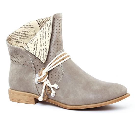 7665a91716d17c Bottines Et Boots Rieker Y2556 Beige, vue principale de la chaussure femme