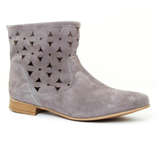 Bottines Et Boots Scarlatine 1228 Gris, vue principale de la chaussure femme