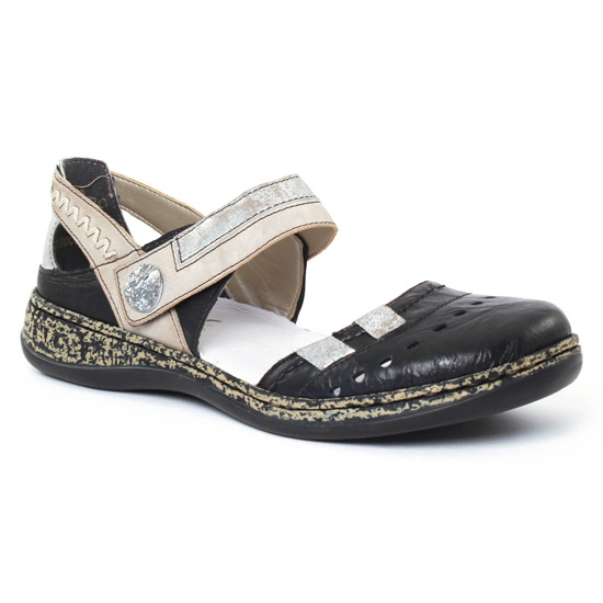 Babies Rieker 46346 Schwarz, vue principale de la chaussure femme