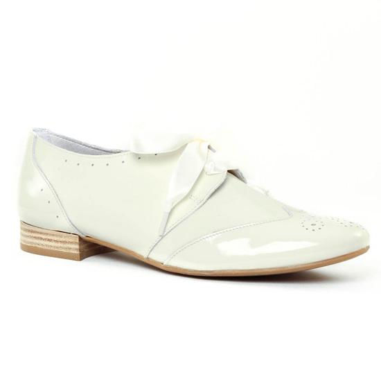 Chaussures À Lacets Scarlatine 8554e White, vue principale de la chaussure femme