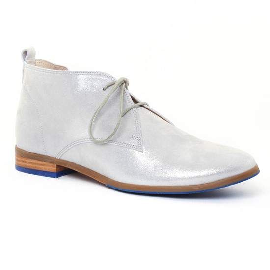 Chaussures À Lacets Fugitive Hook Metal grey, vue principale de la chaussure femme