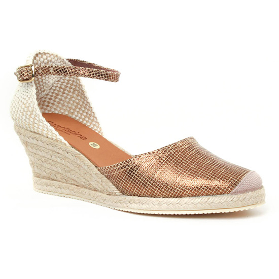 639ea83e31cdcf Espadrilles Scarlatine 5n50 Bronze, vue principale de la chaussure femme