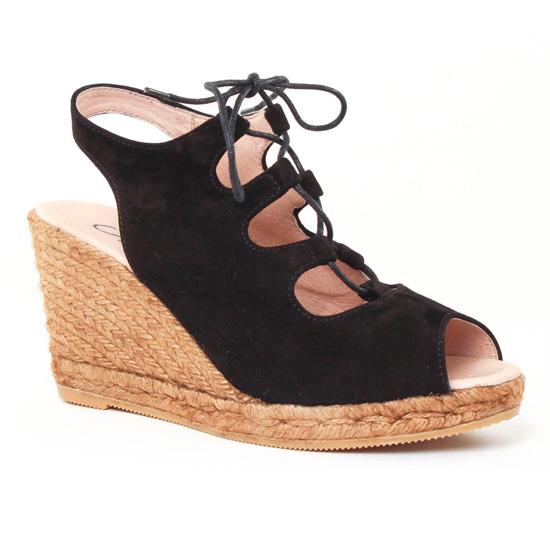 Espadrilles Gaimo Gossi Noir, vue principale de la chaussure femme