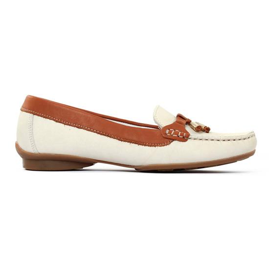 Mocassins Scarlatine 470 Beige Cognac, vue principale de la chaussure femme