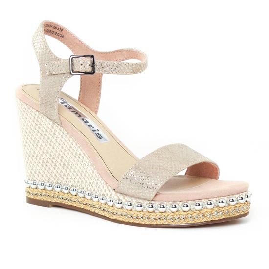 Nu Pieds Et Sandales Tamaris 28324 Rose, vue principale de la chaussure femme