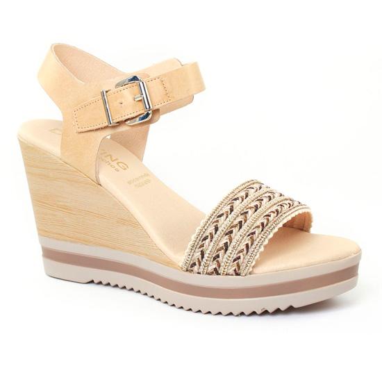 Nu Pieds Et Sandales Dorking 6710 Naturel, vue principale de la chaussure femme