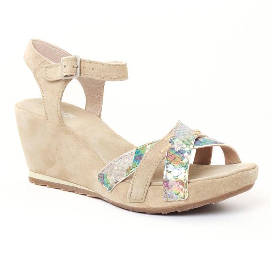 Nu Pieds Et Sandales Khrio 2703 Sand, vue principale de la chaussure femme