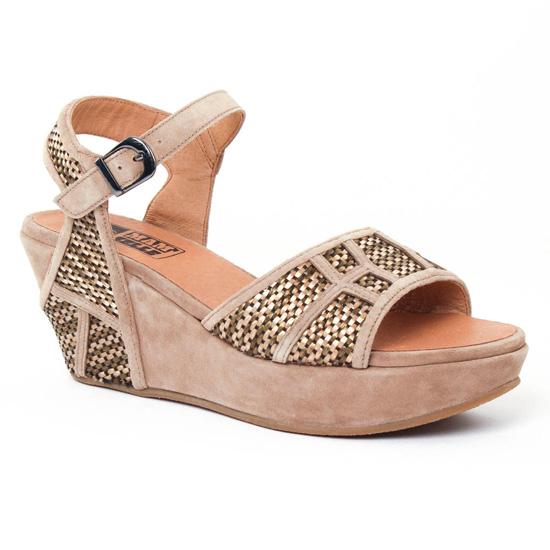 Nu Pieds Et Sandales Mamzelle Matis Greige, vue principale de la chaussure femme