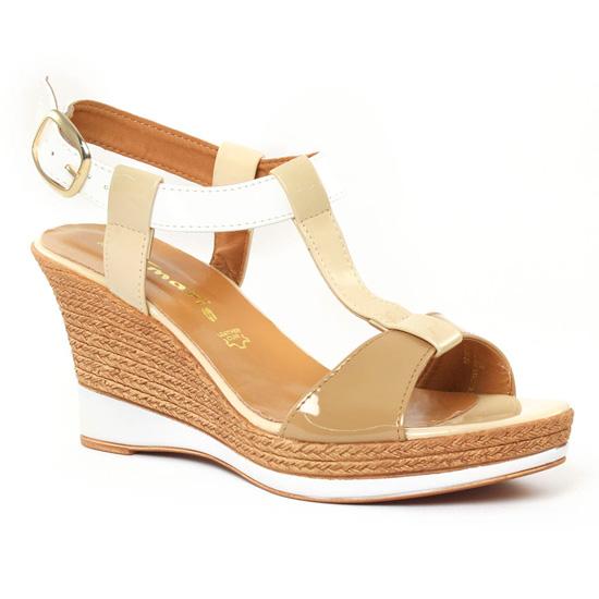Nu Pieds Et Sandales Tamaris 28085 Cream, vue principale de la chaussure femme