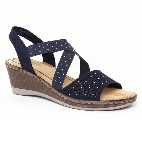 Nu Pieds Et Sandales Marco Tozzi 28900 Navy, vue principale de la chaussure femme