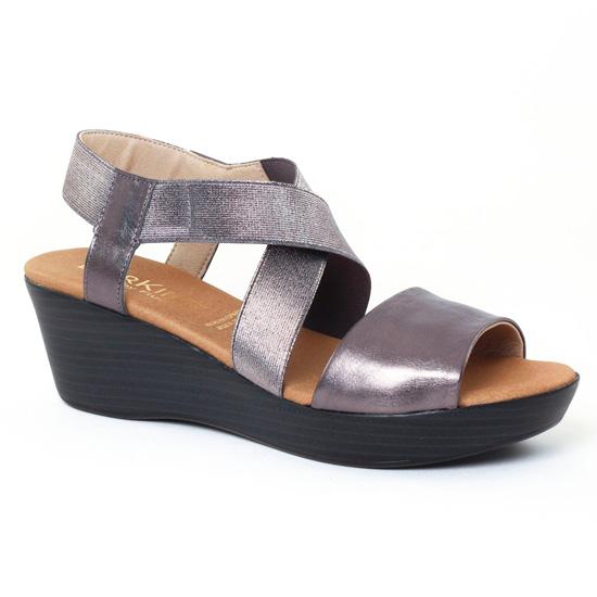 Nu Pieds Et Sandales Dorking Tomy 6600 Anthracite, vue principale de la chaussure femme