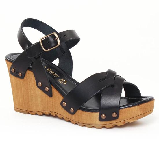 Nu Pieds Et Sandales Marco Tozzi 28747 Black, vue principale de la chaussure femme