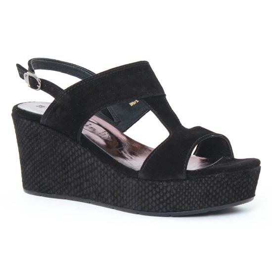 Nu Pieds Et Sandales Tamaris 28361 Black, vue principale de la chaussure femme
