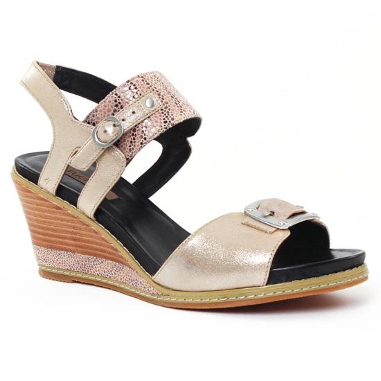 Nu Pieds Et Sandales Fugitive Ixou Metal taupe, vue principale de la chaussure femme