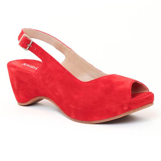 Nu Pieds Et Sandales Khrio 2501 Rouge, vue principale de la chaussure femme