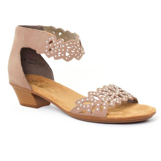 Nu Pieds Et Sandales Rieker 68396 Pietra, vue principale de la chaussure femme