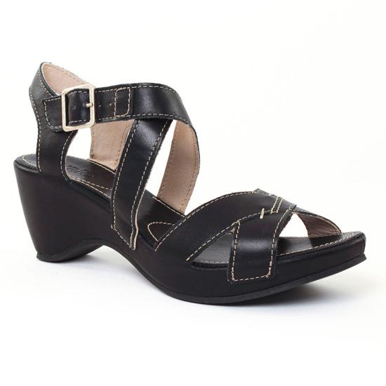 Nu Pieds Et Sandales Khrio 2509 Noir, vue principale de la chaussure femme