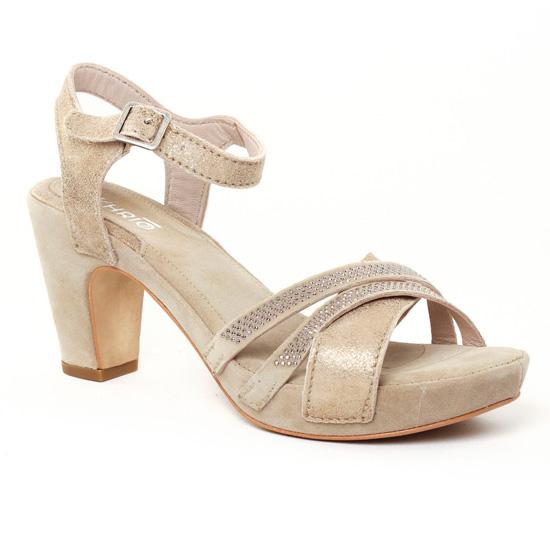 Nu Pieds Et Sandales Khrio 1901 Sand, vue principale de la chaussure femme