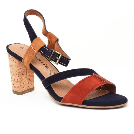 Nu Pieds Et Sandales Tamaris 28350 Navy, vue principale de la chaussure femme