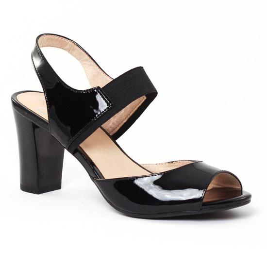 Nu Pieds Et Sandales Caprice 28312 Black, vue principale de la chaussure femme