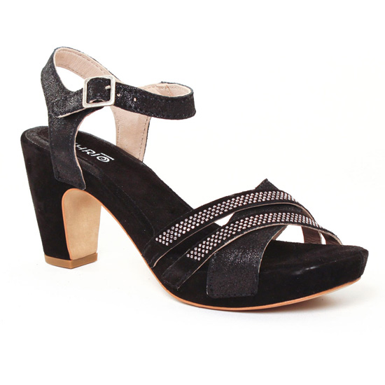 Nu Pieds Et Sandales Khrio 1901 noir, vue principale de la chaussure femme