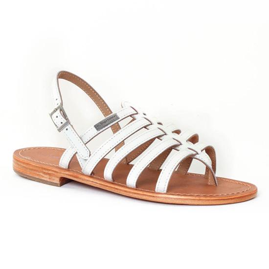 Nu Pieds Et Sandales Les Tropeziennes Herisson Blanc, vue principale de la chaussure femme