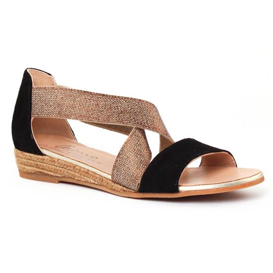 98e18e9c71113d Nu Pieds Et Sandales Gaimo Nover Noir Bronze, vue principale de la chaussure  femme