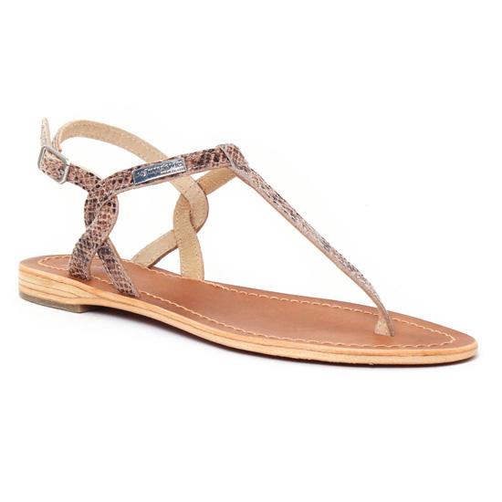 Nu Pieds Et Sandales Les Tropeziennes Billy Serpent Taupe, vue principale de la chaussure femme