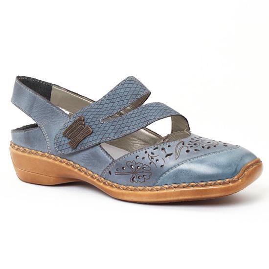 Babies Rieker 41383 White Denim, vue principale de la chaussure femme