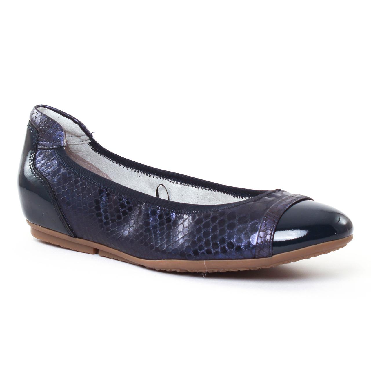Chaussures femme été 2017 , ballerines tamaris bleu marine