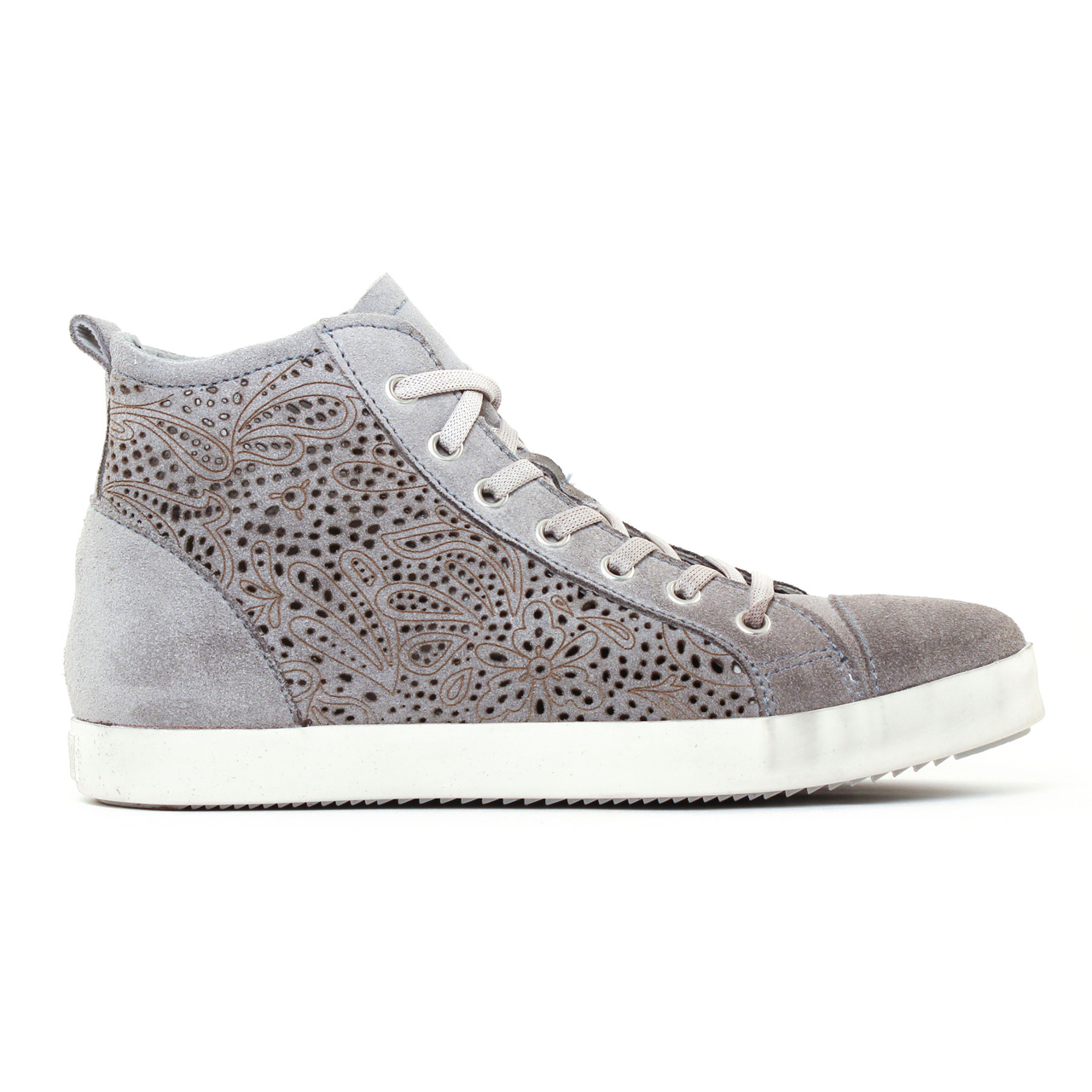baskets mode gris mode femme printemps été 2017 vue 2