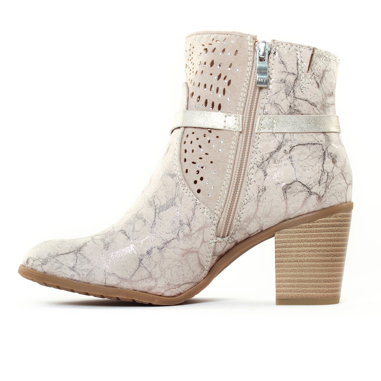 marco tozzi 25309 dune metal | boots beige marron or printemps été