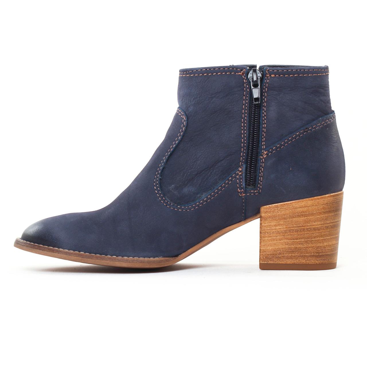 tamaris 25341 navy | boots bleu marine printemps été chez trois par 3