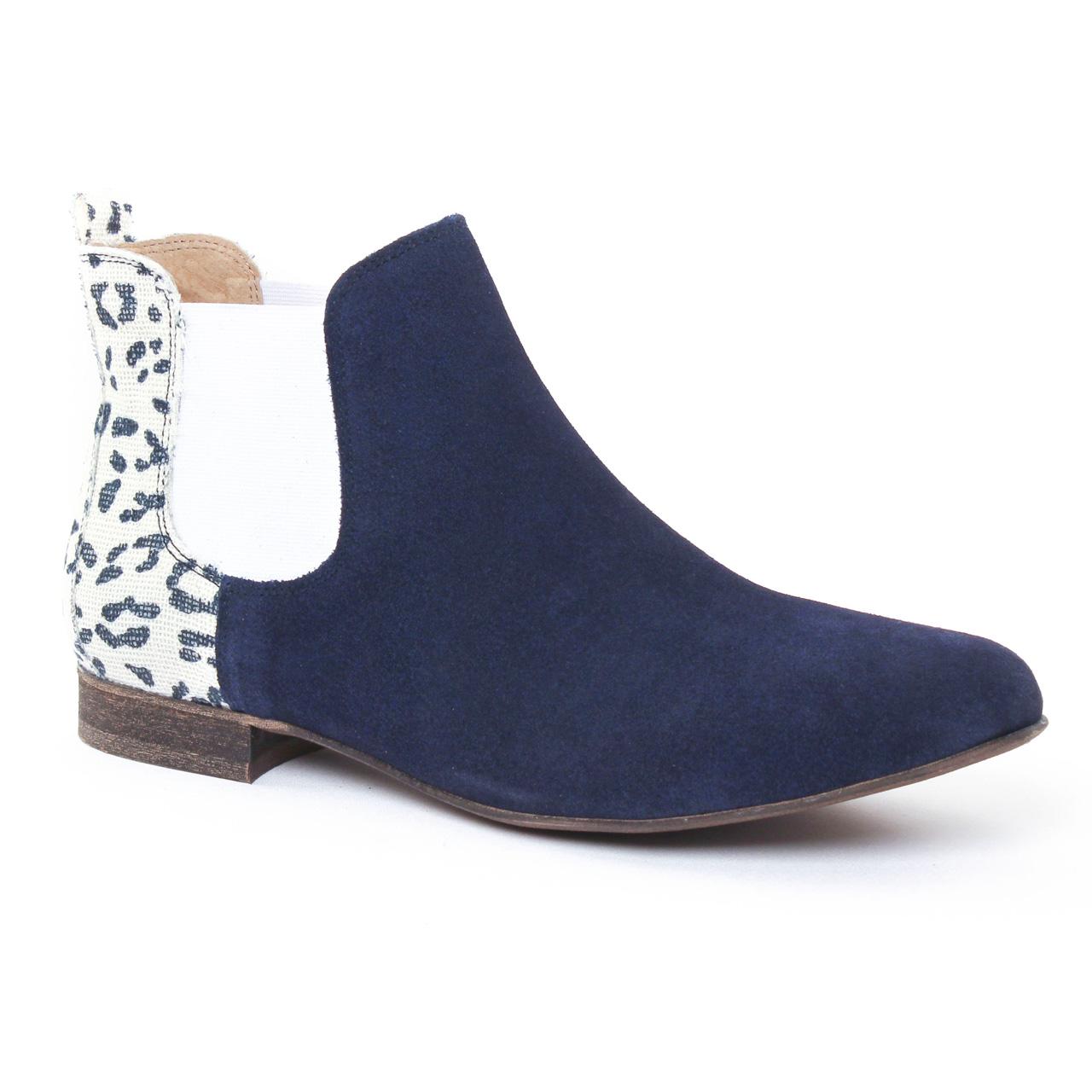 axell tual marine boot lastiqu es bleu marine printemps t chez trois par 3. Black Bedroom Furniture Sets. Home Design Ideas