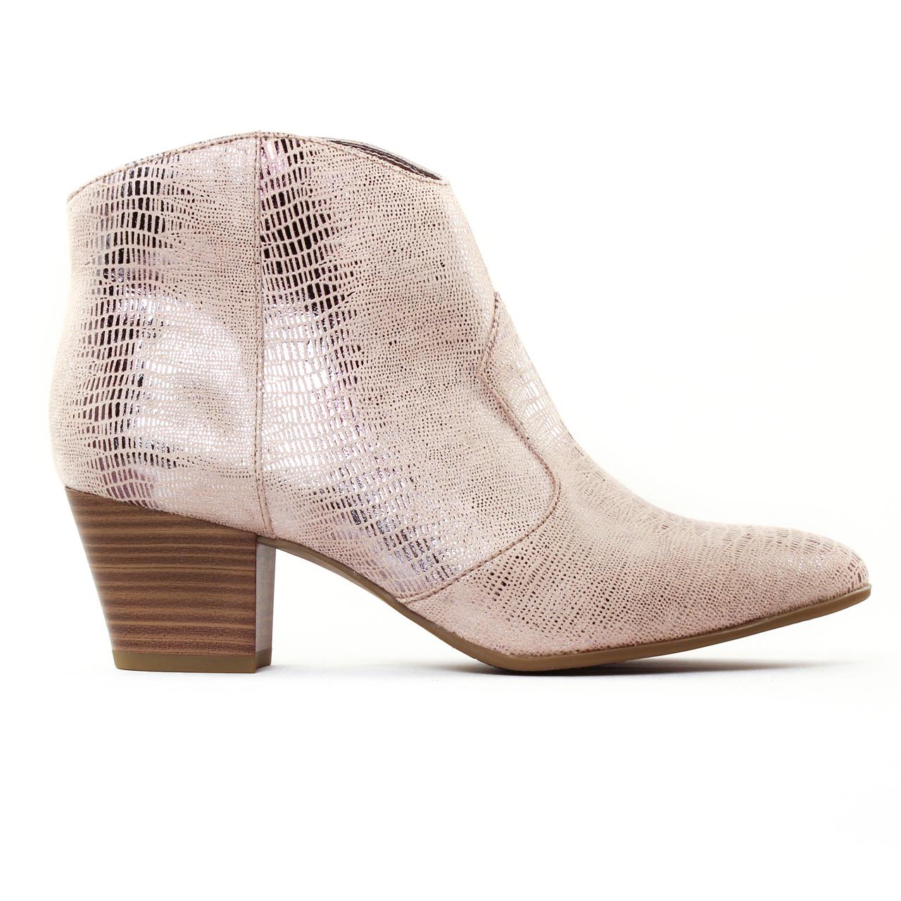 tamaris 25301 rose boots rose gris argent printemps t. Black Bedroom Furniture Sets. Home Design Ideas