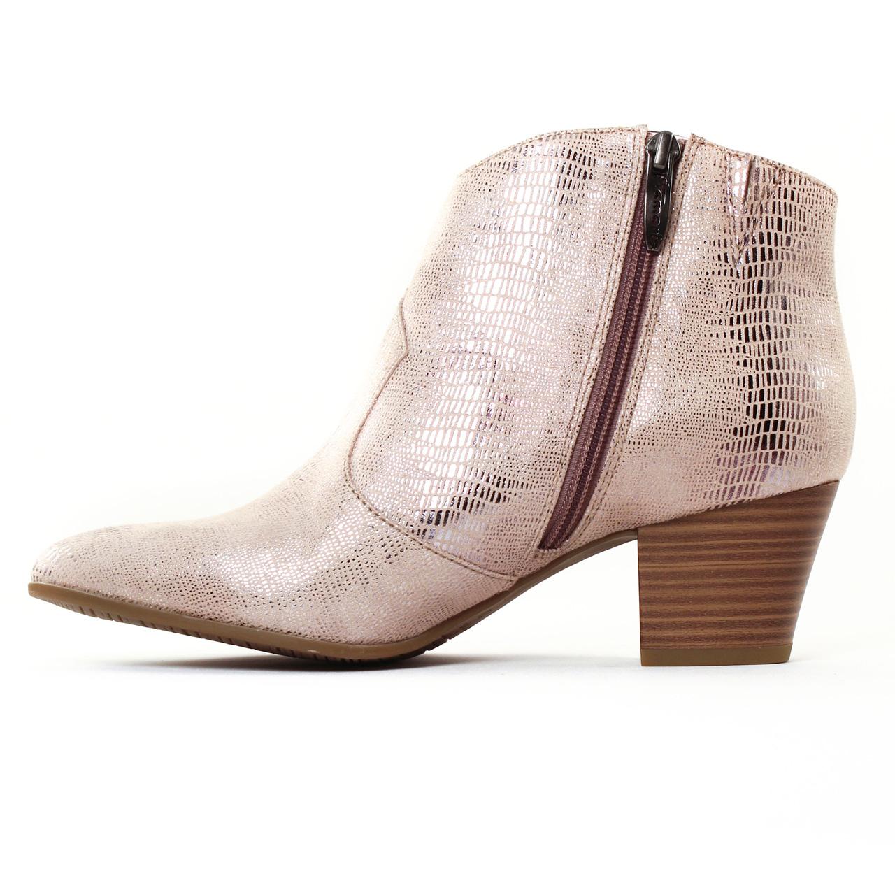 b17b803ed38bcd Tamaris 25301 Rose | boots rose gris argent printemps été chez TROIS ...