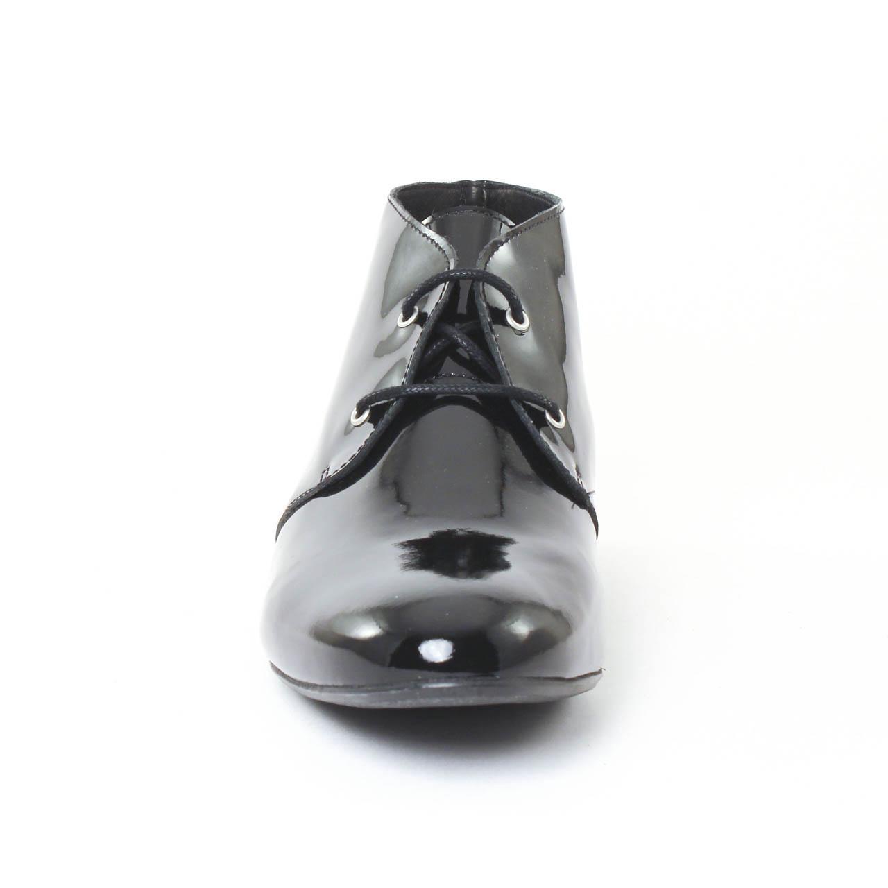 scarlatine 77689b noir | bottine à lacets noir printemps été chez