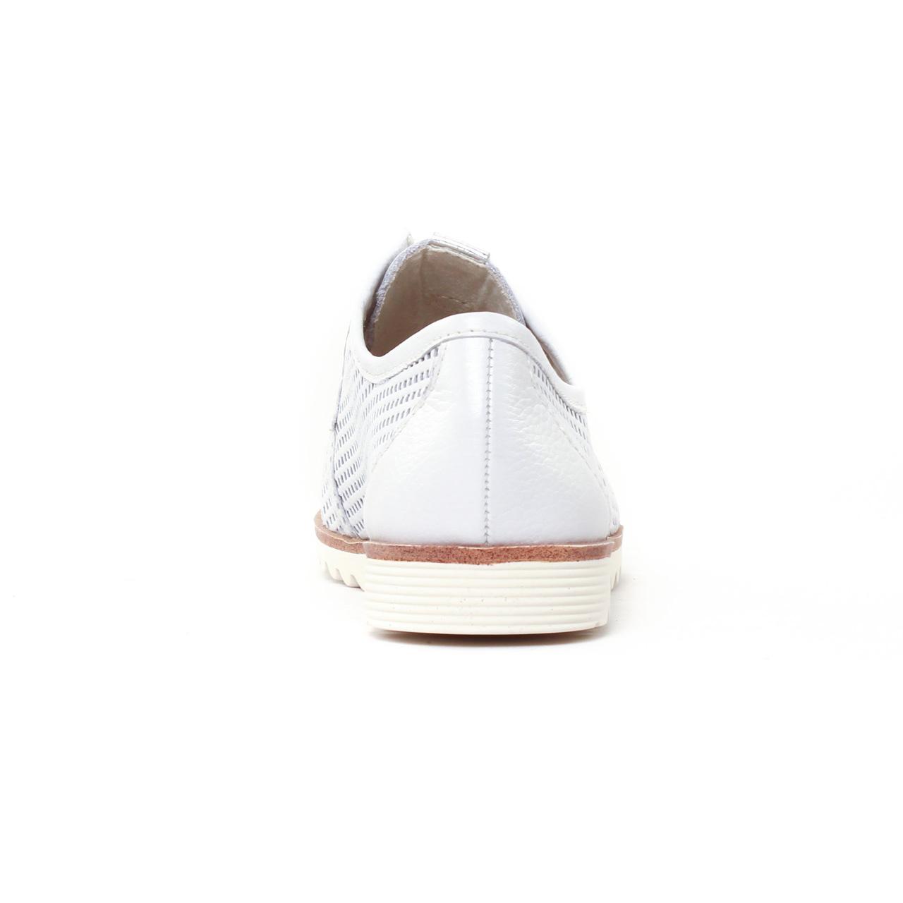 Tamaris 23603 White | derbys blanc printemps été chez TROIS