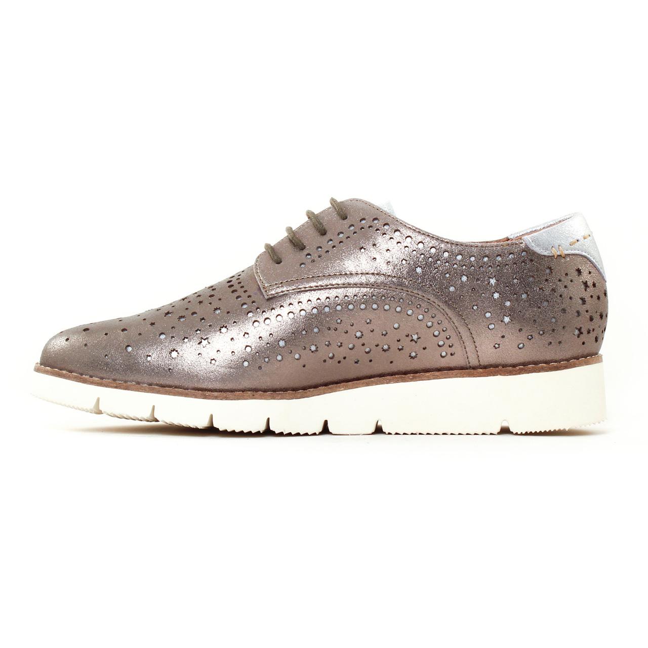 Chaussures à lacets MAM'ZELLE cuir argent 41 ERDMLzV