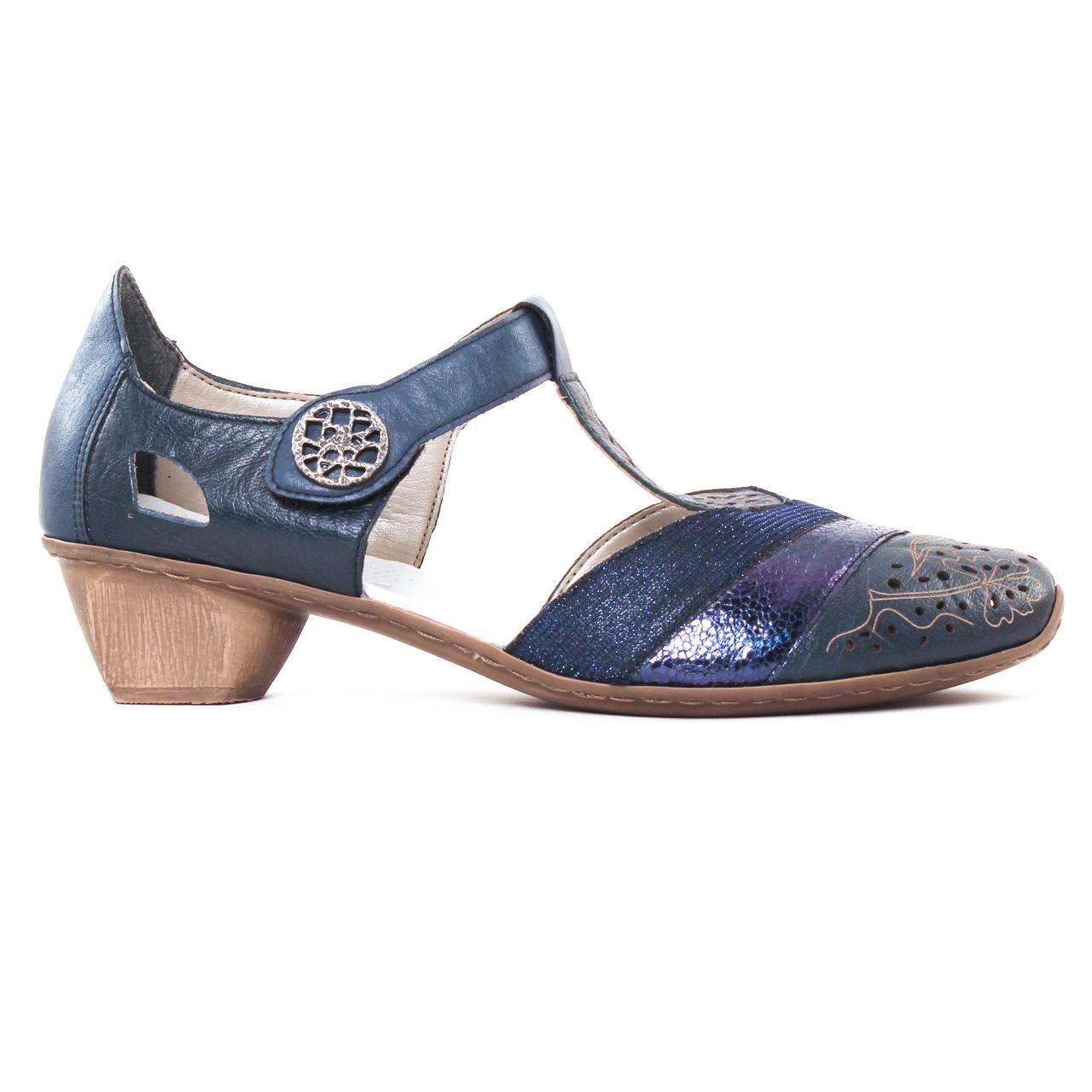 Chaussures Rieker Femme Bleu Royalgrey Polo Bdpcwdky Compensées SwqZawf