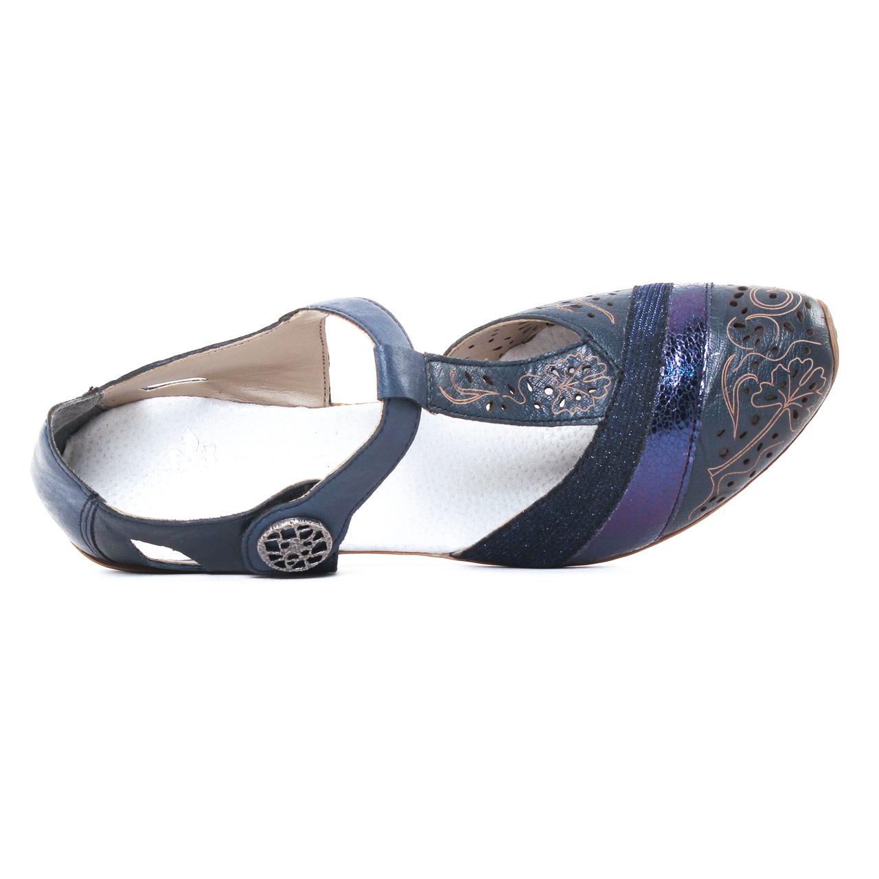 Rieker 49751 Royal | escarpin trotteur bleu marine printemps