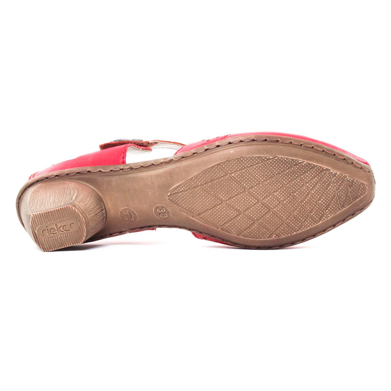 Rieker 49798 Rosso   escarpin trotteur rouge printemps été