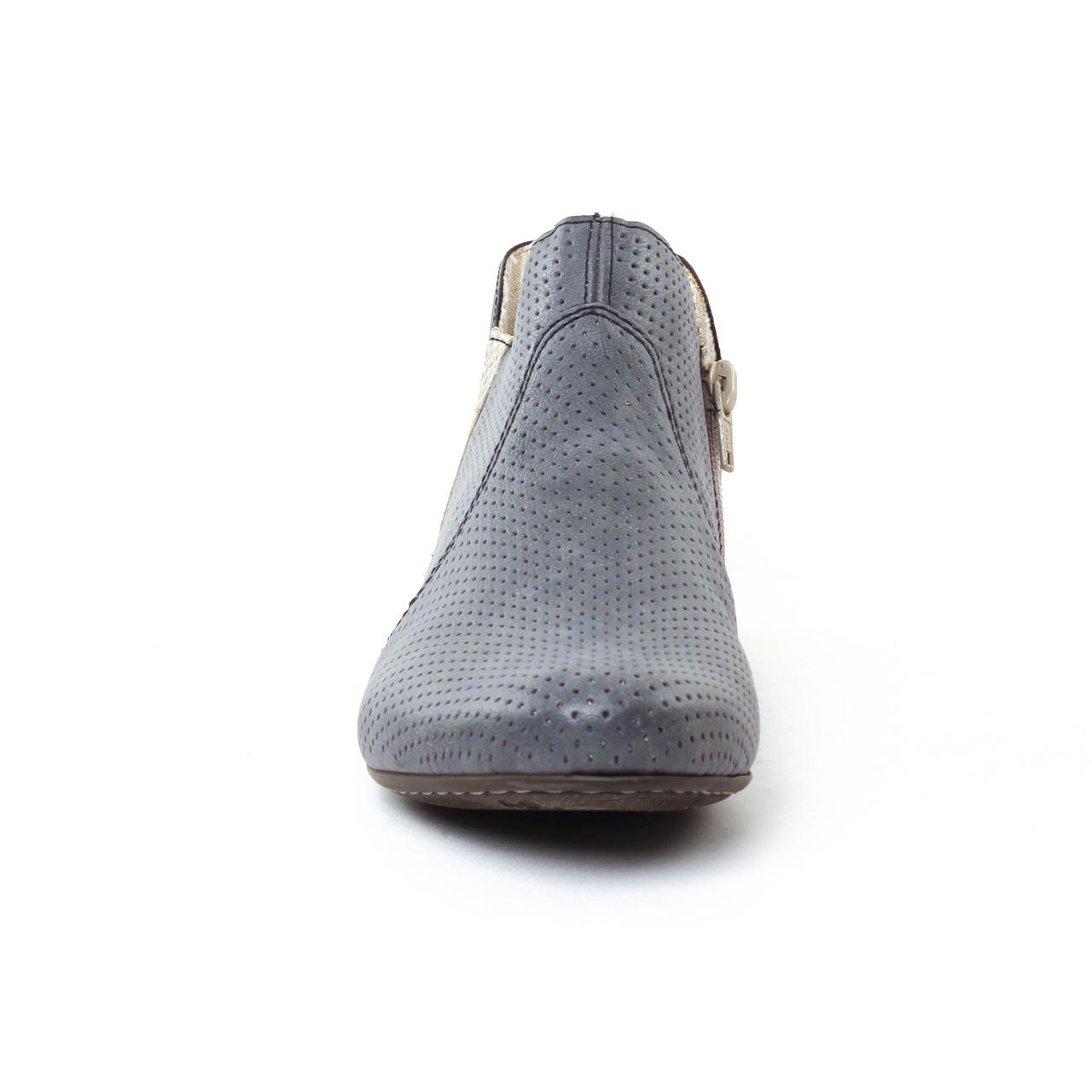 rieker 71975 jeans | low boots bleu gris printemps été chez trois