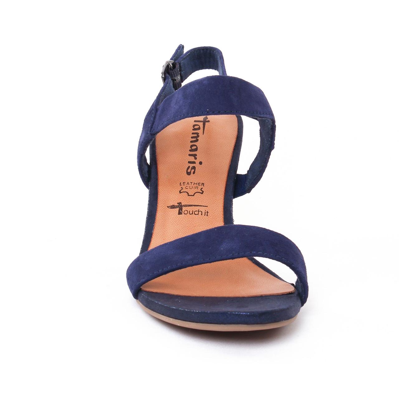 grand choix de e19c3 e36b1 Tamaris 28321 Blue | nu-pied talon hauts bleu marine ...