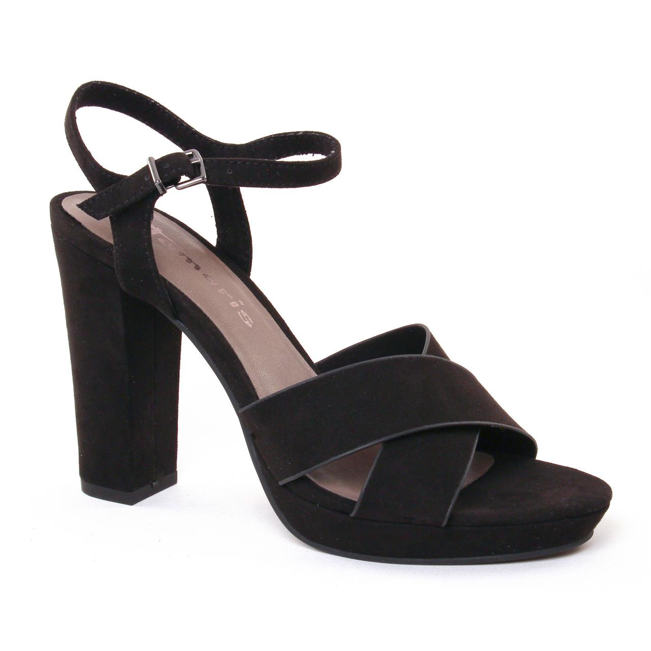 tamaris 28368 black nu pied talon hauts noir printemps t chez trois par 3. Black Bedroom Furniture Sets. Home Design Ideas