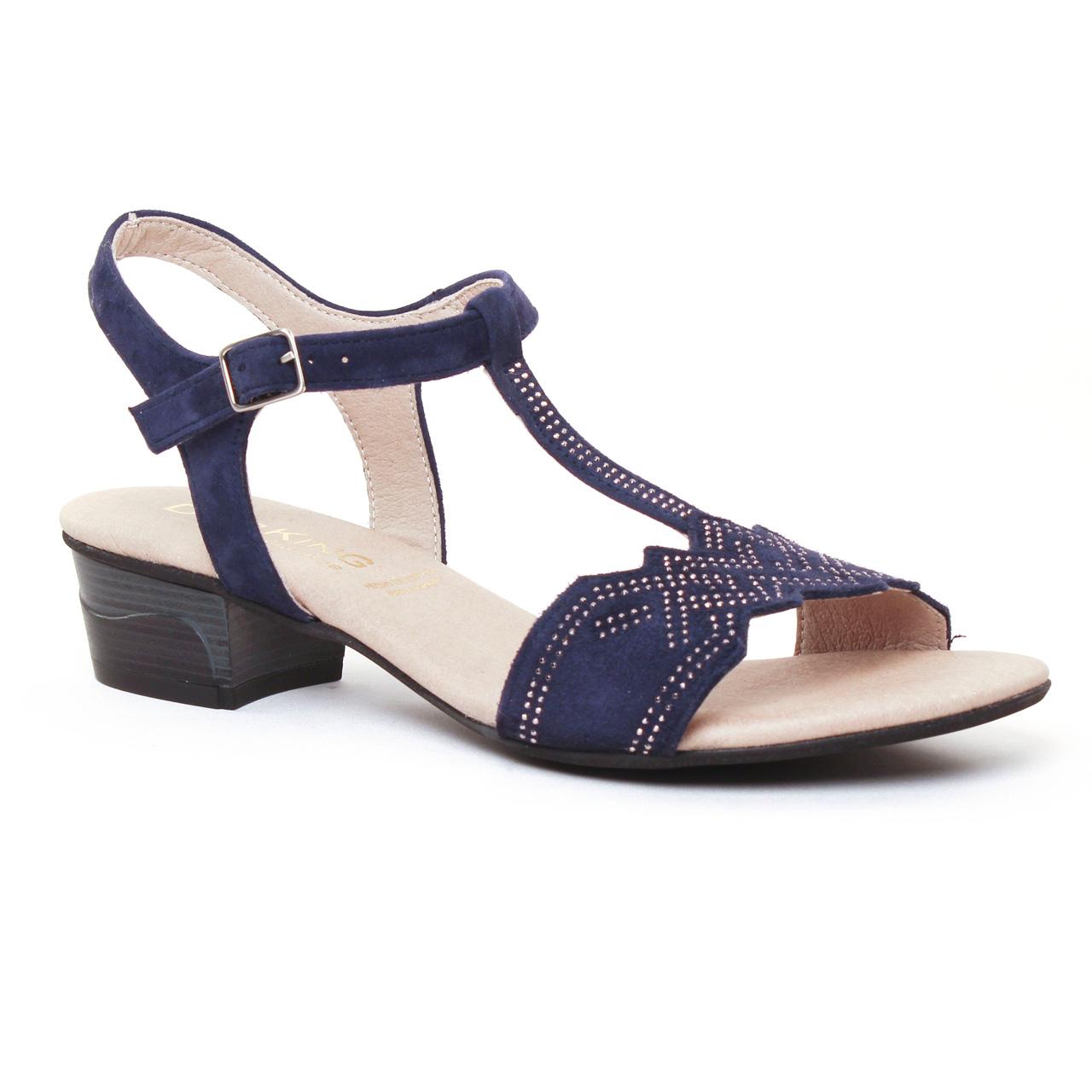 dorking olivia 7173 sandales bleu marine printemps t chez trois par 3. Black Bedroom Furniture Sets. Home Design Ideas